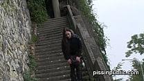 nepal sex vidos, desperate girls must pee in public park but get caught on camera ⁃ boob torture thumbnail