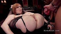 Huge tits redhead and ebony asses whipped thumb
