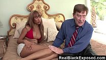RealBlackExposed - Ebony Bella Moretti Takes On Old White Cock