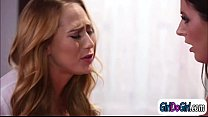 Breast doctor Carter Cruise sucks patient Angela Whites tits preview image