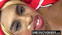 HD Cheating Blonde Ebony Babe Smiling After Cumshot Make Up Facial From Her Big Dick Angry Boyfriend All Over Her Brown Face and Sweet Red Lips Msnovember - Download mp4 XXX porn videos