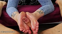 Foxy Sanie - Super Cutie Footjob 4 Rent