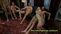 Small tittied tied up blonde orgy fucked Vorschaubild