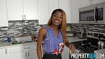 PropertySex - Busty agent with amazing natural tits fucking client - 9Club.Top