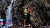 Public Sex In A Waterfall