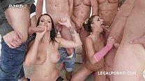 3on2 Orgy with Amirah Adara & Jolee Love Balls Deep Anal and DAP Vorschaubild