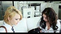 Tiny petite teens 3way Adriana Lynn and Dakota Skye 91