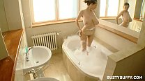 Busty Buffy Solo Bath