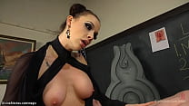 Busty Professor Pegging Bound Student