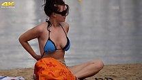 Busty German Filmed on Topless Beach by Voyeur's Thumb