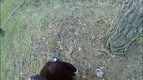 Stepdaughter - Man forced young girl with long hair sucking cock and fucking in the forest thumbnail