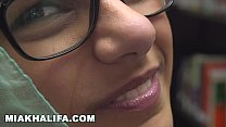 MIA KHALFIA - Arab Goddess Strips Naked In A Library Just For You thumbnail