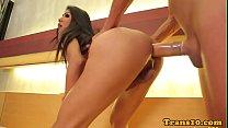 Bigtits amateur ladyboy wanking during anal