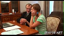 Teacher is pounding playgirl wildly on the kitc...