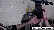 Hot Kendra Cole gets fucked all over the studio...