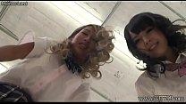 Japanese Schoolgirls Trample Slave Face Thumbnail