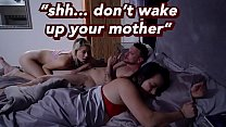 Riley Star Can't s., Jumps On Step Daddy's Dick While Mom s.s Right Next To Them