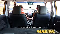 Fake Driving School Exam failure leads to hot sexy blonde car fuck preview image