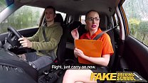 Fake Driving School Exam failure leads to hot sexy blonde car fuck - 9Club.Top
