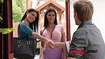 Busty lesbian bombshells Jasmine Jae & Ania Kinski swallow realtor's cock GP251's Thumb