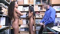 Officer destroys two shoplifter ebonys pussy pornhub video