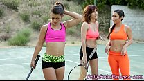 Lez threeway after tennis practice went wrong tumblr xxx video