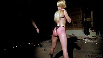 Tied up teen slave screaming in pain bondage and BDSM sex Image