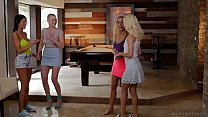 Lesbian couples swap each other - Riley Nix and Elsa Jean - 9Club.Top