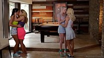Lesbian couples swap each other - Riley Nixon a...