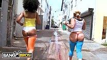 BANGBROS - Daquiri Divine and Paris Shake Their Big Asses In South Beach