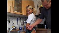Beautiful german blonde girl with perfec ass kn...