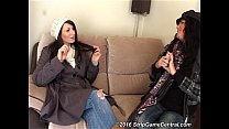 Demi & Michelle Play Strip High Card