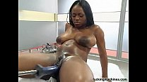 Hot Busty black girl wilth Fuckingmachine preview image