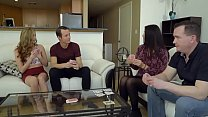 Alex Blake and Whitney Wright take turns fucking dad while trying not to get caught! - 9Club.Top