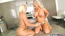 Sexy Brandi Bae and Nina Kayy first lesbian ana... thumb