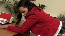 Tanya Cox gets Pinned on Her Desk and Receive a Rough صورة