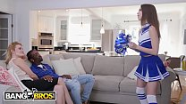 BANGBROS - Young Cheerleader Riley Reed Rides A Big Black Cock