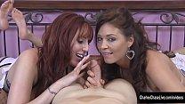 Deepthroat Sluts Charlee Chase and Lauren Phillips Double BJ