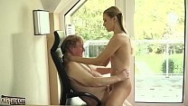 Young blonde gives grandpa the best blowjob and fuck صورة