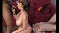 Cuckold watching his Hotwife Sara Jay banging with a big black cockock pornhub video