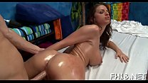 Legal age teenager babe gives up the pink to her masseur preview image