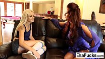 Elsa receives a tough lesson from her busty tutor Holly Preview