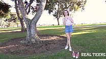 Real Teens - New girl Addee public flashing & m... thumb