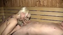 Geile Blondine hemmungslos in der Sauna gefickt Vorschaubild