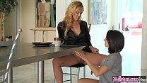 Blonde Milf (Cherie DeVille) Eats (Darcie Dolce