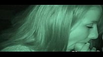 Night cam captures a hottie sucking dick