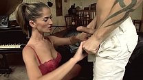 Whore in red lingerie gets fucked by the ass Preview