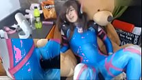 teen dva cosplayer fucks herself - more on teen...