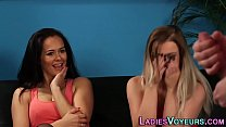 Kinky babes watch loser