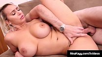 Sex Crazed Nina Kayy Stuffs Snatch With Hard Cock!
